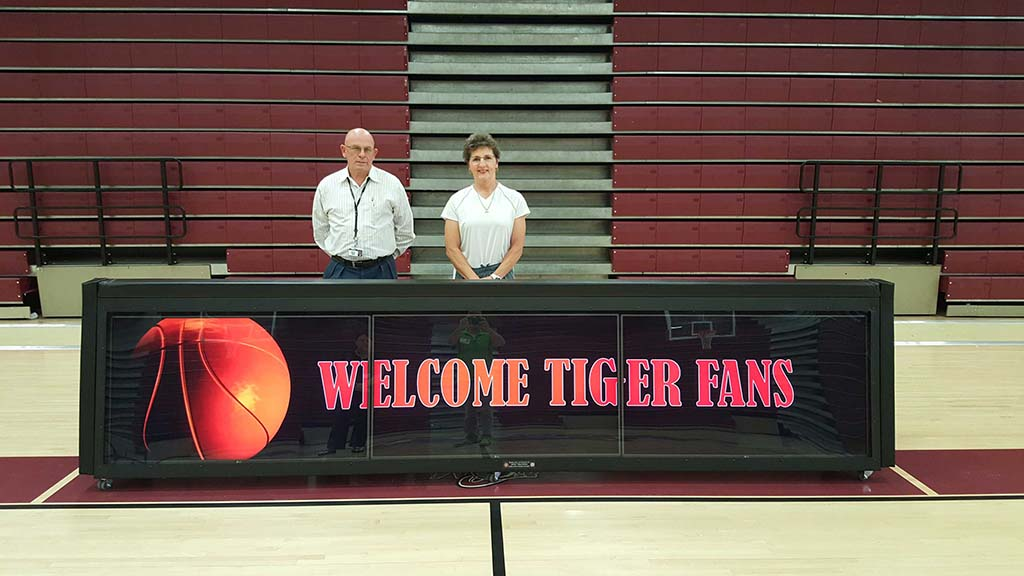 12ft TRIPLEVIEW scoring table College Station High School. Buddy Reed, Athletic Director, secured sponsorship to pay for two 12ft table in less than a month!