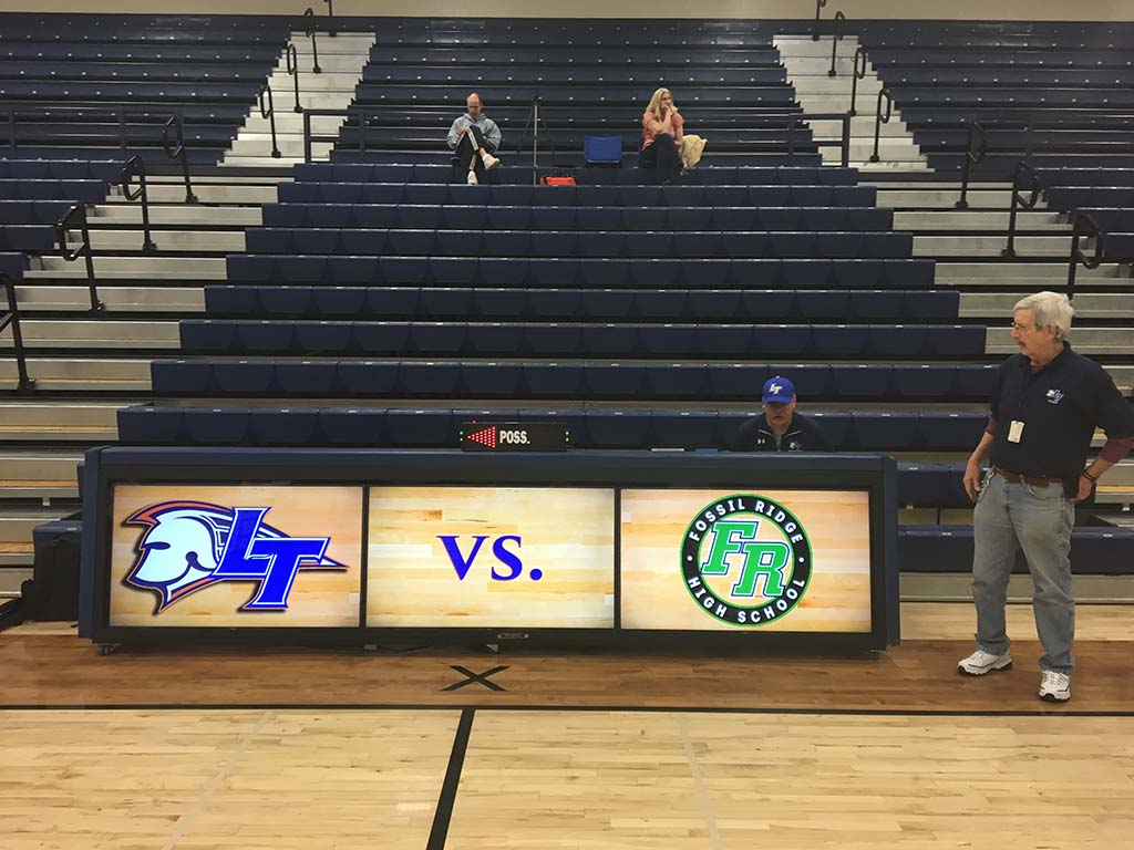 Legend High, CO with their 12ft TRIPLEVIEW scoring table