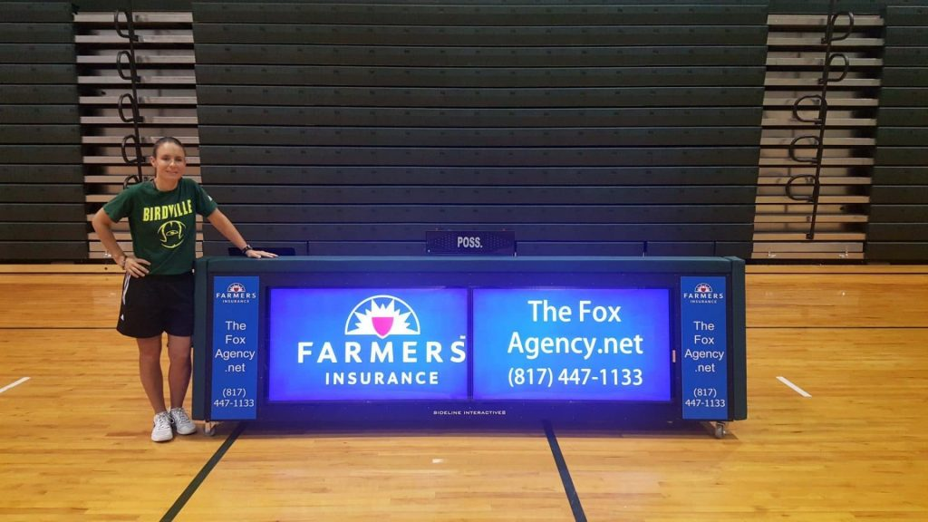 10ft digital scoring table with advertising