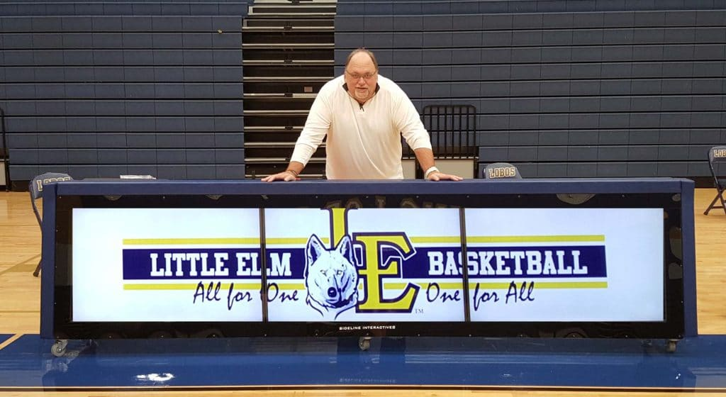 digital scoring table for Little Elm High School Basketball program