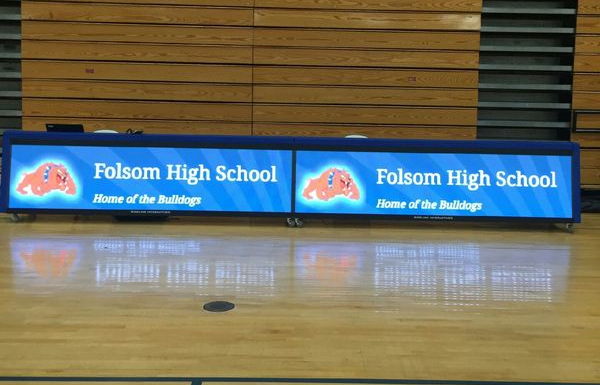 20ft LED basketball table, Folsom HS, CA